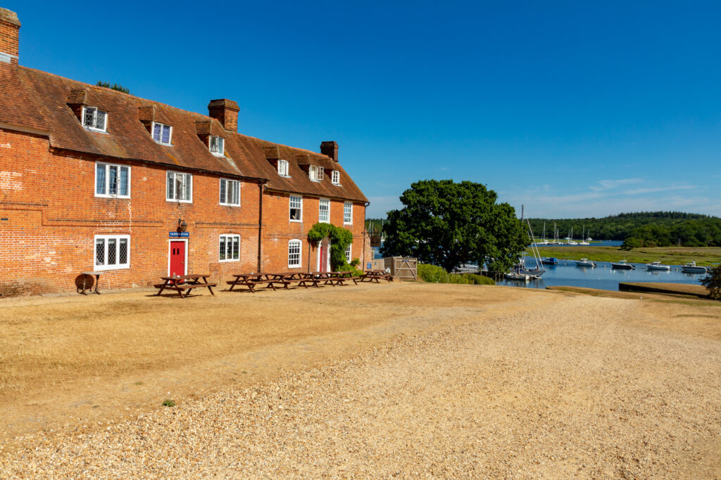 Buckler's Hard on the banks of the Beaulieu River.