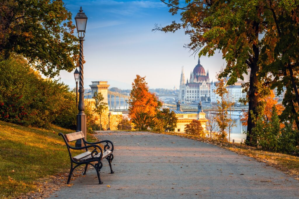 Budapest, Hungary, during the fall.