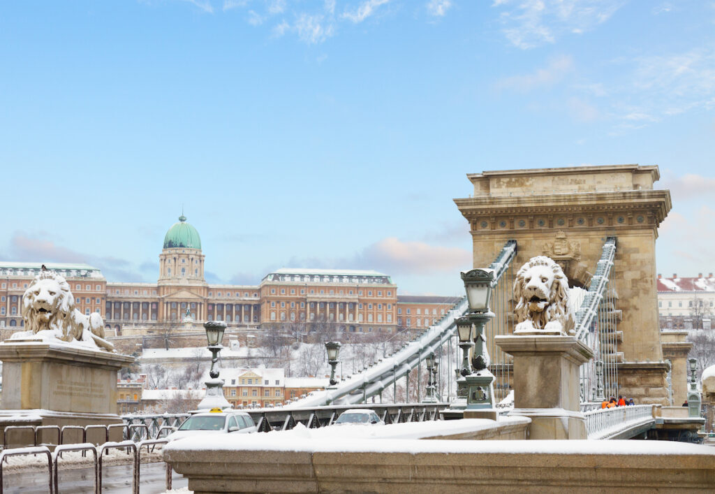 Budapest, Hungary, during the winter time.