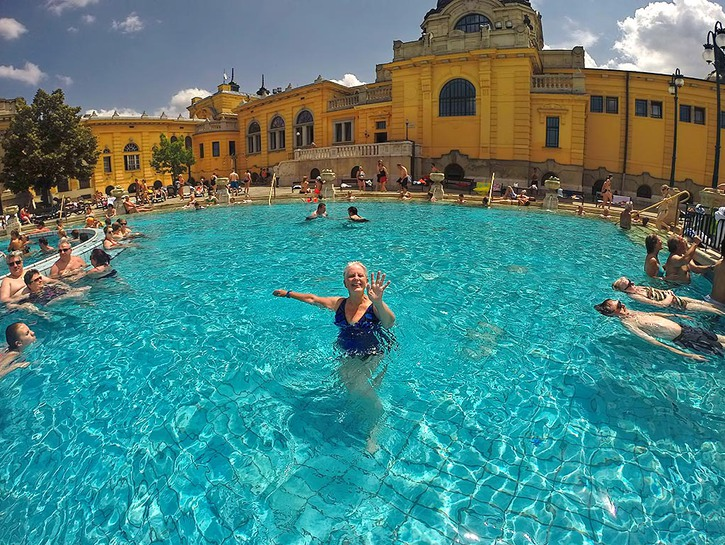 Budapest Hungary Szechneyi Thermal Baths