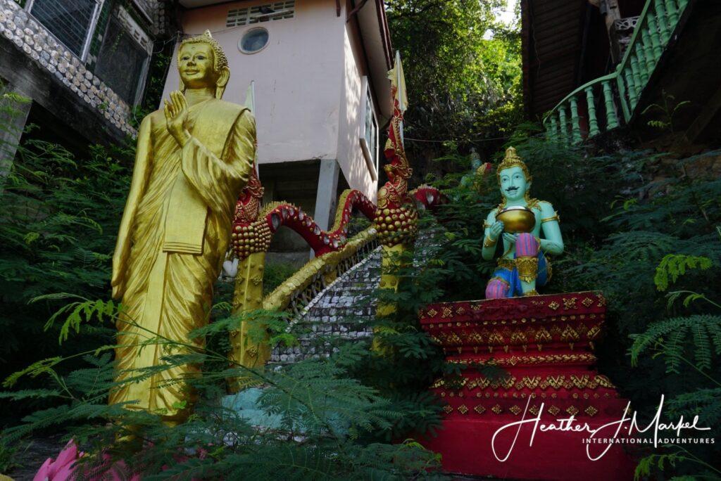 Buddhist decor on the way to Prachuap's hidden Buddha.
