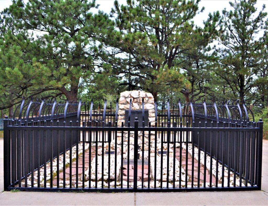 Buffalo Bill's Grave at Lookout Mountain Park, Colorado.