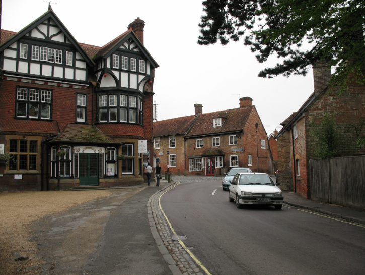 Buildings and street in Beaulieu, England