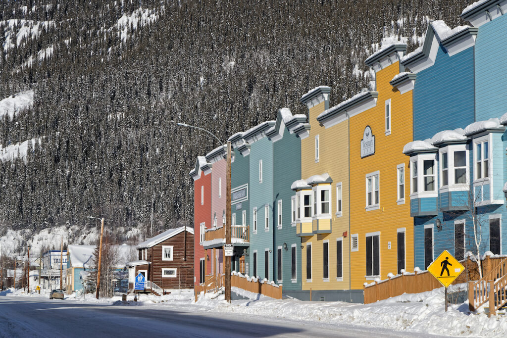 Buildings in Dawson City, Canada.