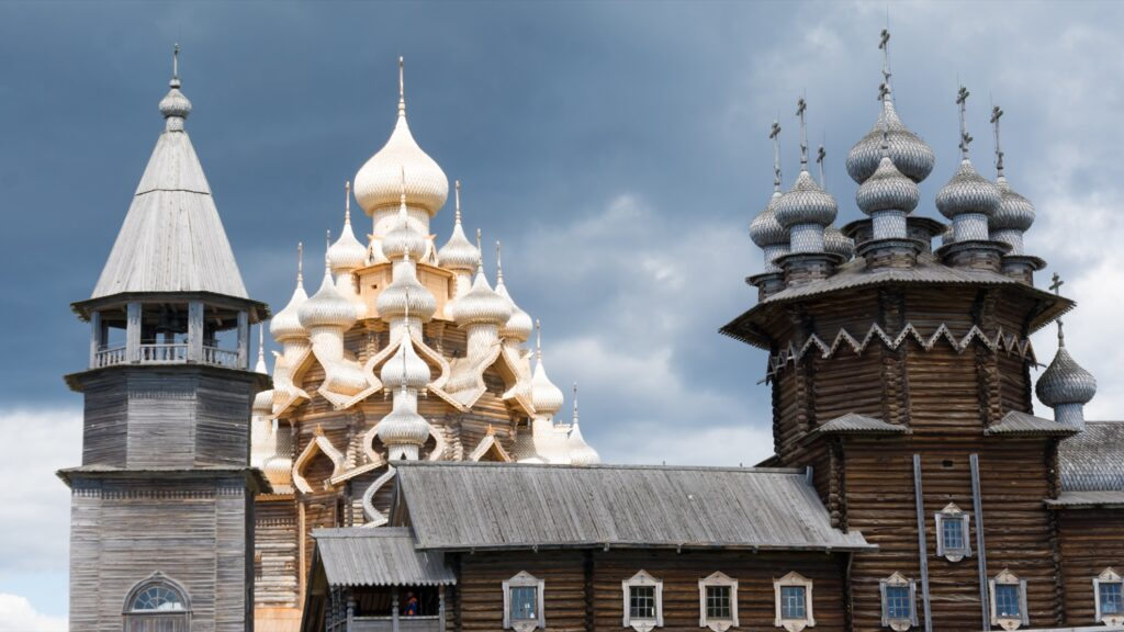 Buildings on Kizhi Island in Russia.