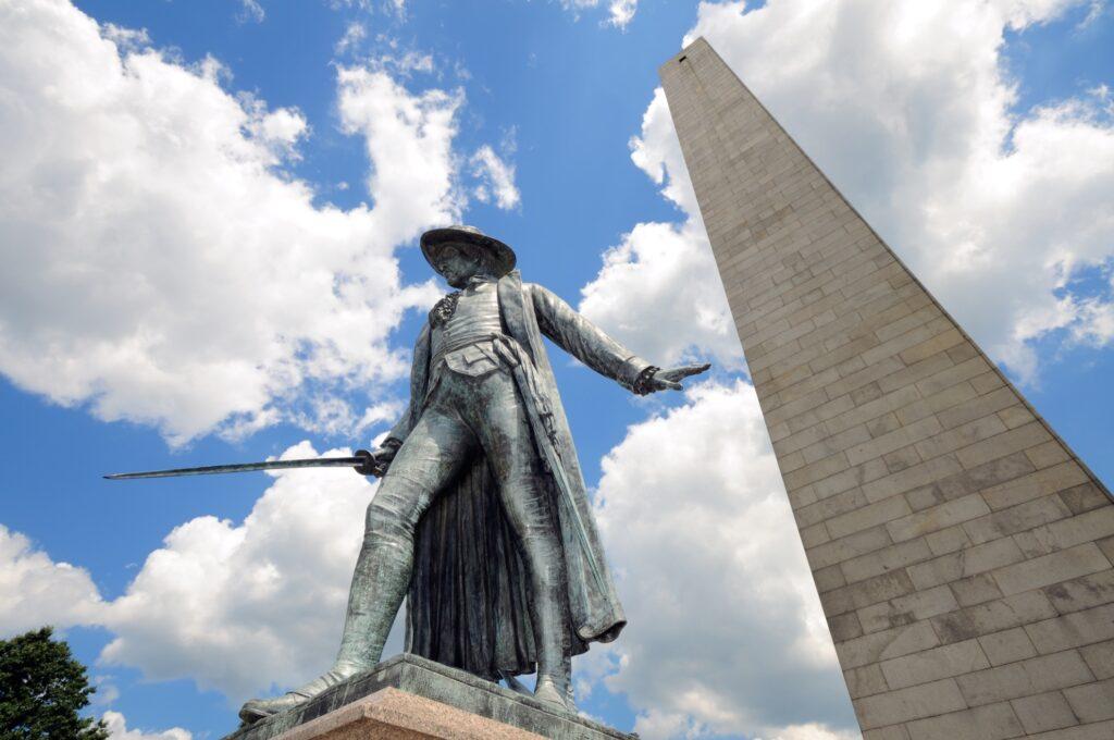 Bunker Hill Monument in Boston.