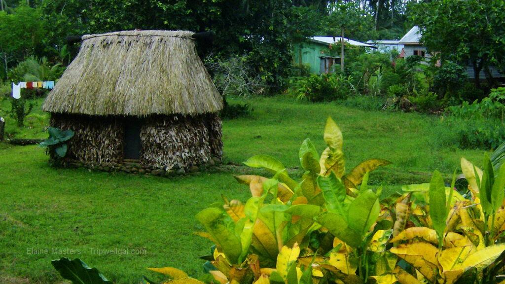 Bure home in Viti Levu, Fiji.