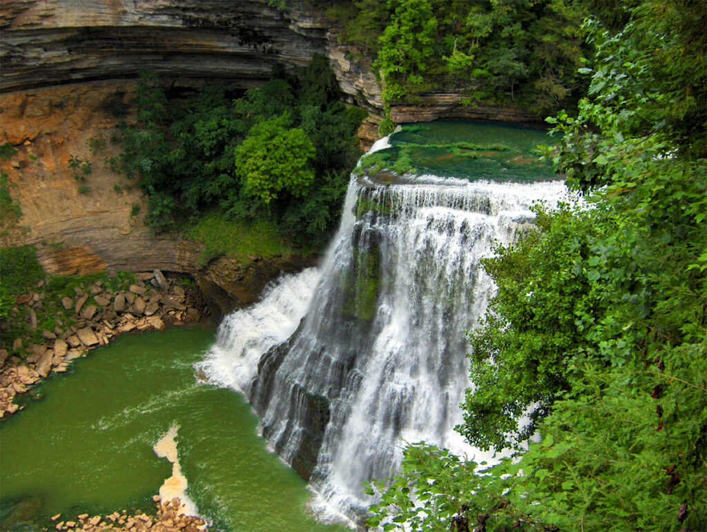 Burgess Falls in Sparta, Tennessee.