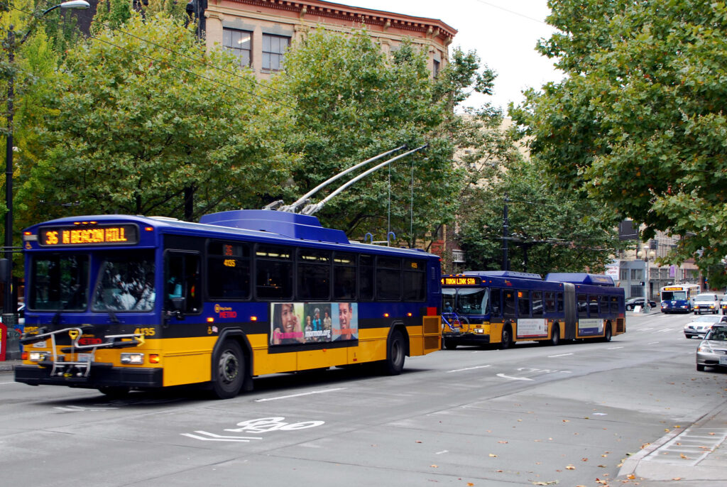 Buses in downtown Seattle.