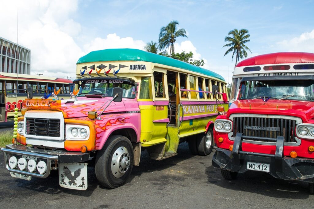 Buses in Samoa.