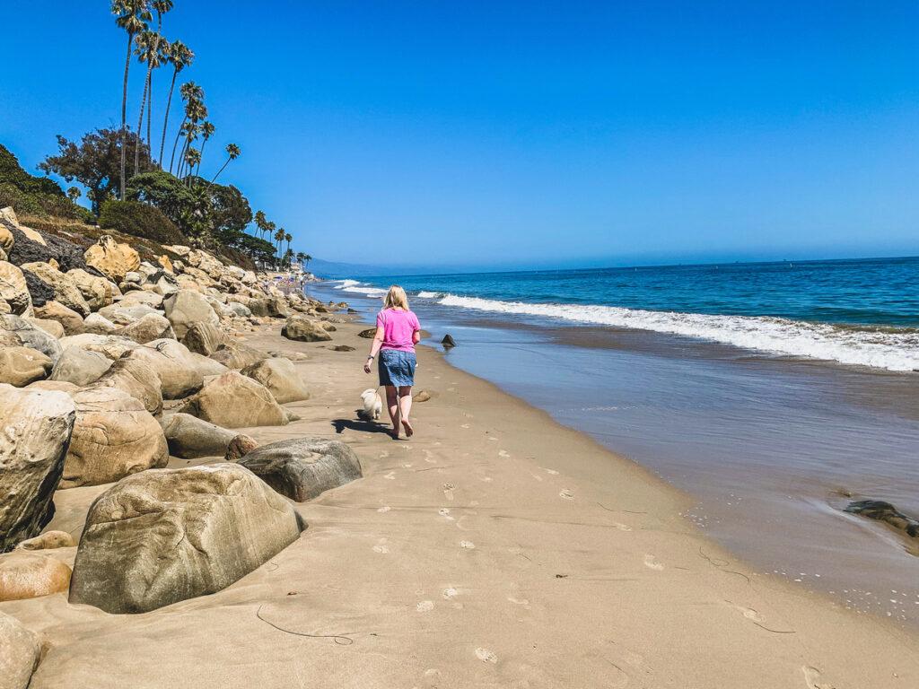 Butterfly Beach in Santa Barbara, California.
