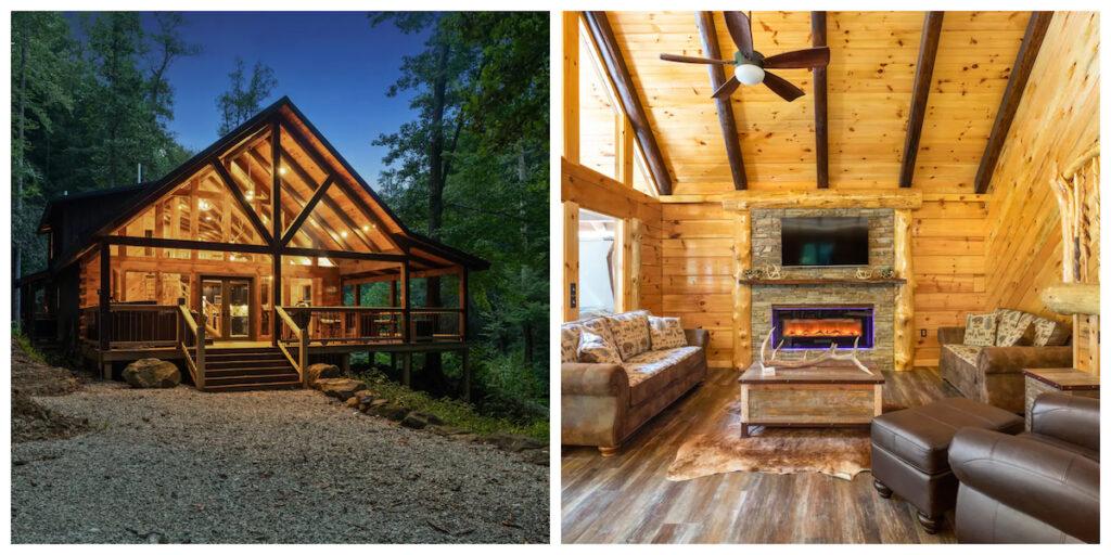 Cabin of Freedom Falls, a rental in Slade, Kentucky.