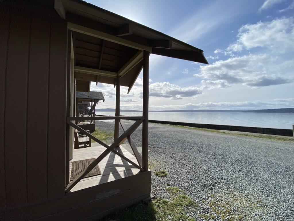Cabins on Camano Island.