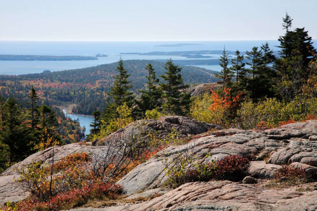 Cadillac Mountain in Acadia National Park.