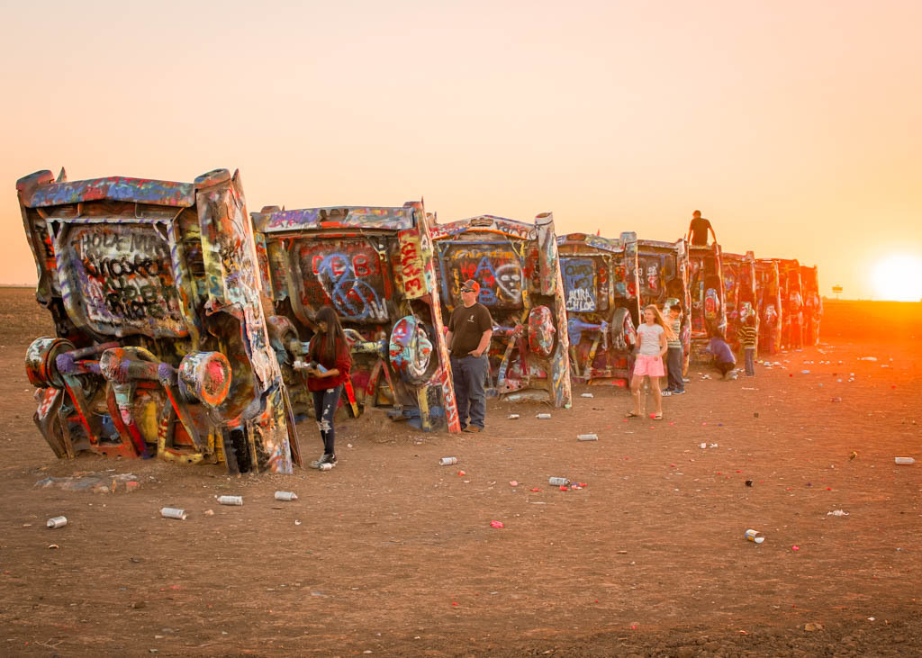 Cadillac Ranch in the Texas Panhandle.