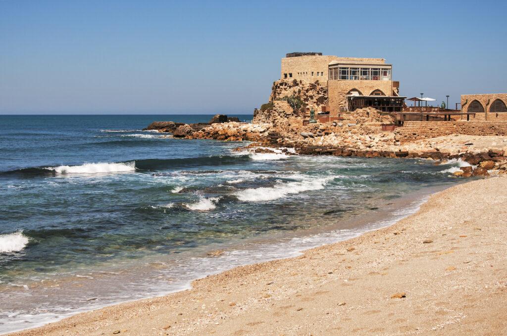 Caesarea, a historic costal city near Tel Aviv.