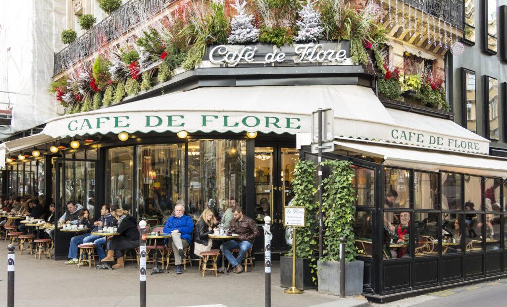 Cafe de Flore in Paris.