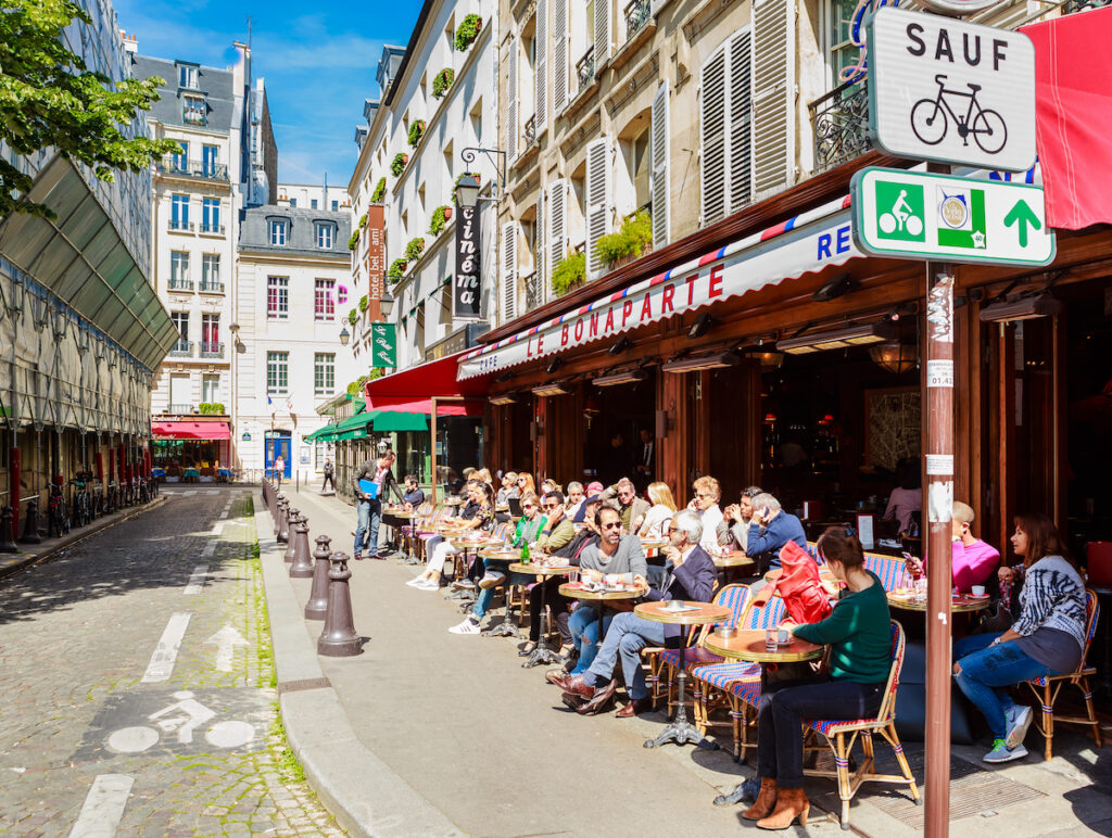 Cafe le Bonaparte, Paris, France.