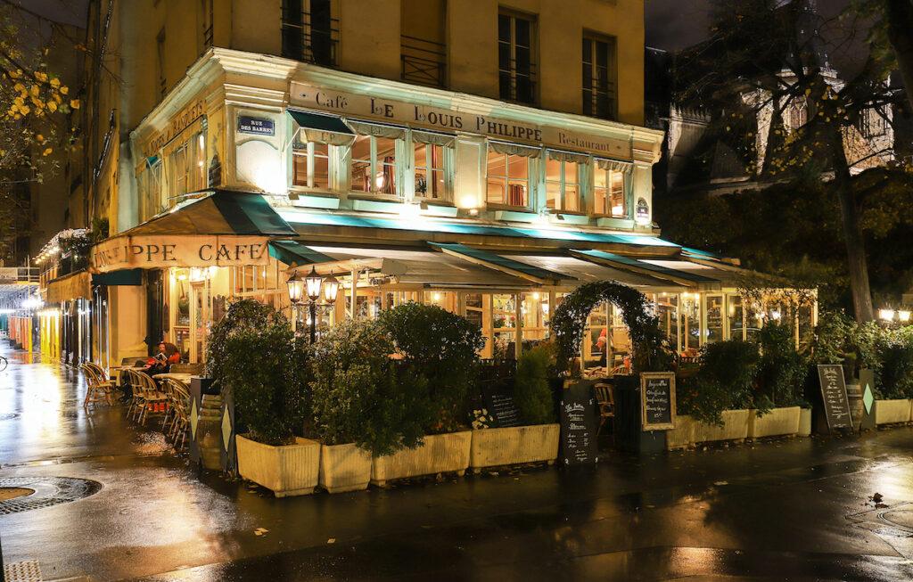Cafe Louis Philippe, Paris, France.