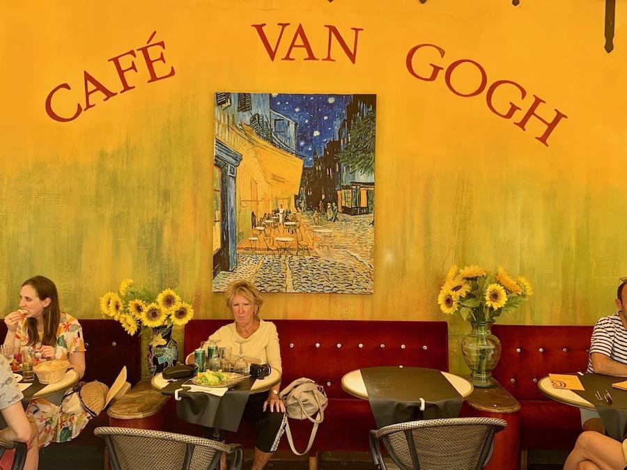 Cafe Van Gogh in France.