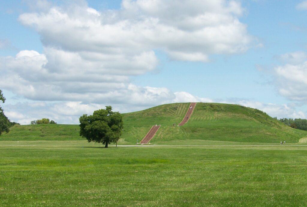 Cahokia Mounds in Illinois.