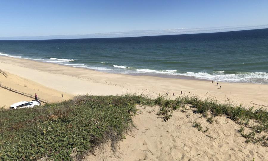 Cahoon Hollow Beach in Cape Cod.