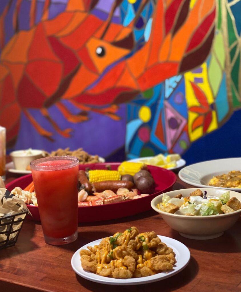 Cajun food at Crazy Cajun.