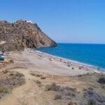 Cala del Bordenares, a nude beach in Spain.