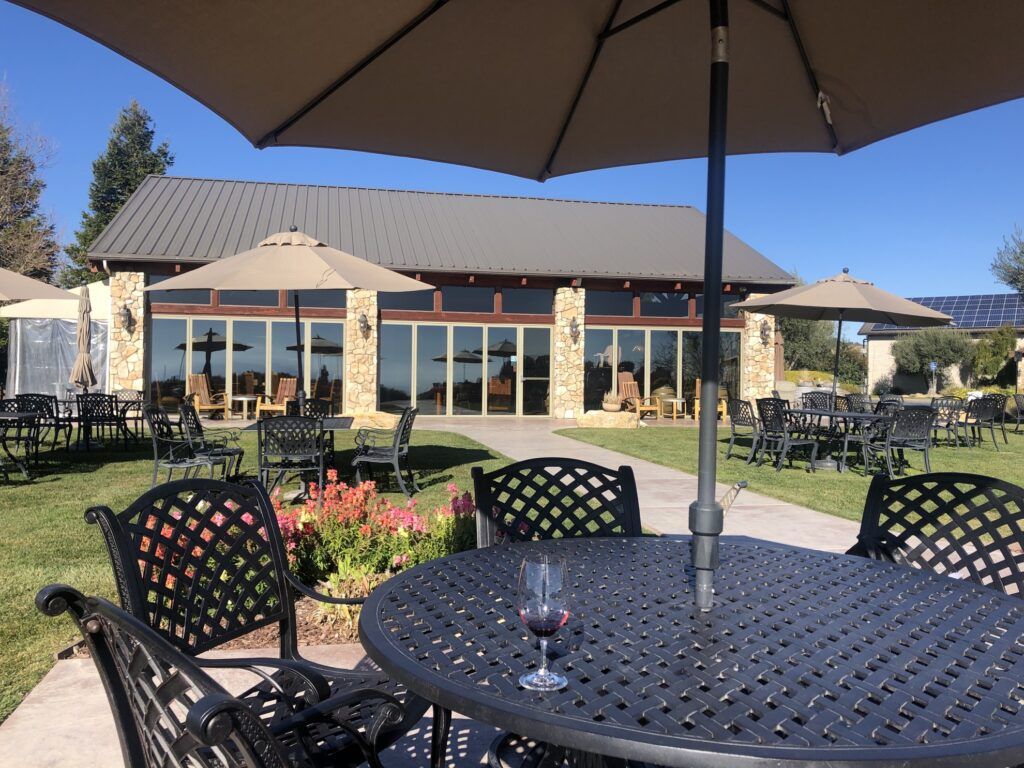 Calcareous winery in Paso Robles.