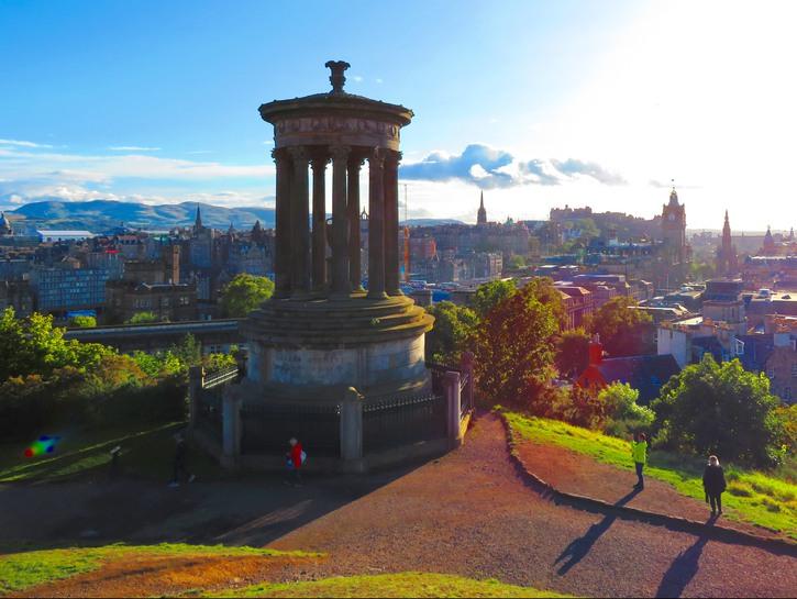 Calton Hill monument, Edinburgh, Scotland