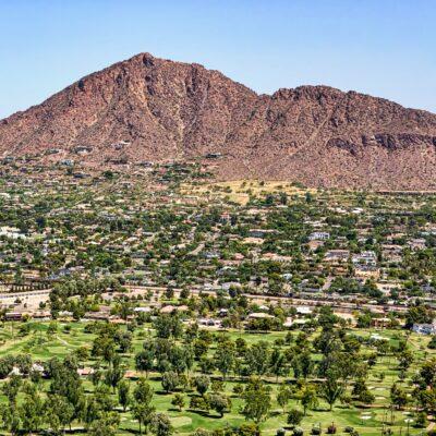 Camelback Mountain in Phoenix, Arizona.