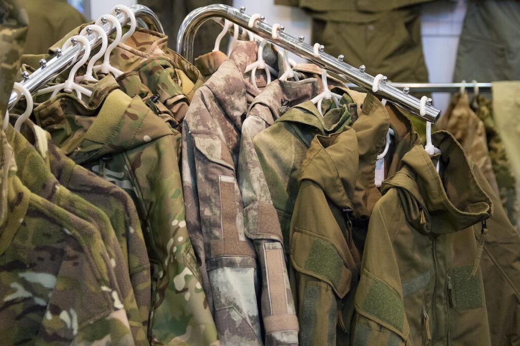 Camouflage jackets.