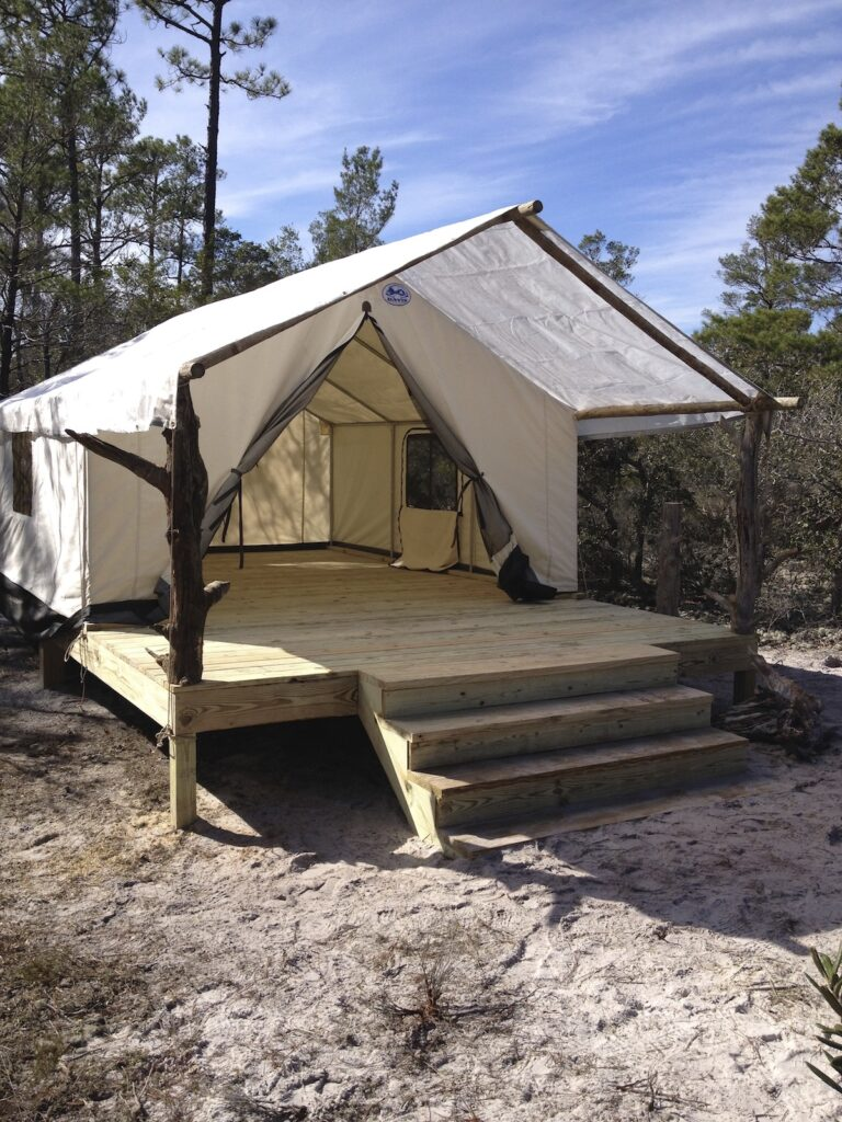 Camping at Gulf State Park in Gulf Shores, Alabama.