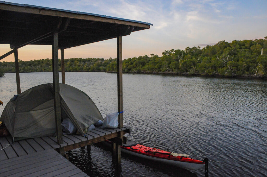 Camping in Everglades National Park.