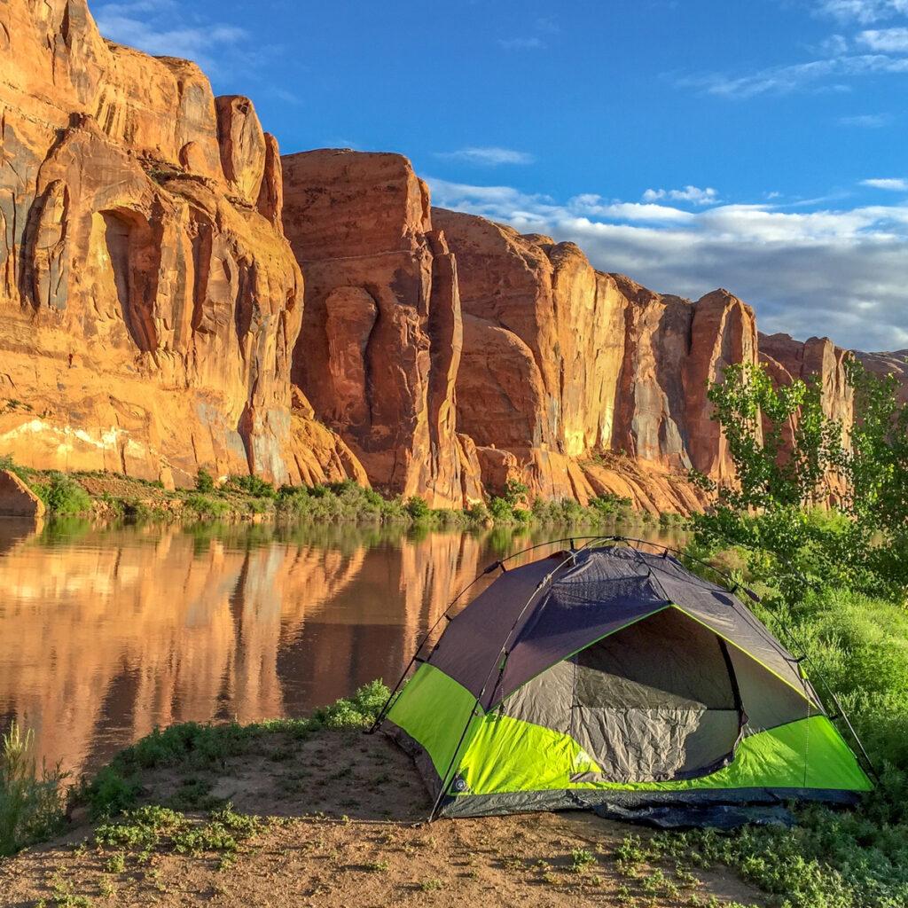 Camping in Moab, Utah.