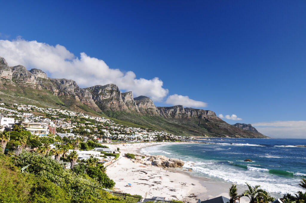 Camps Bay in Cape Town, South Africa.