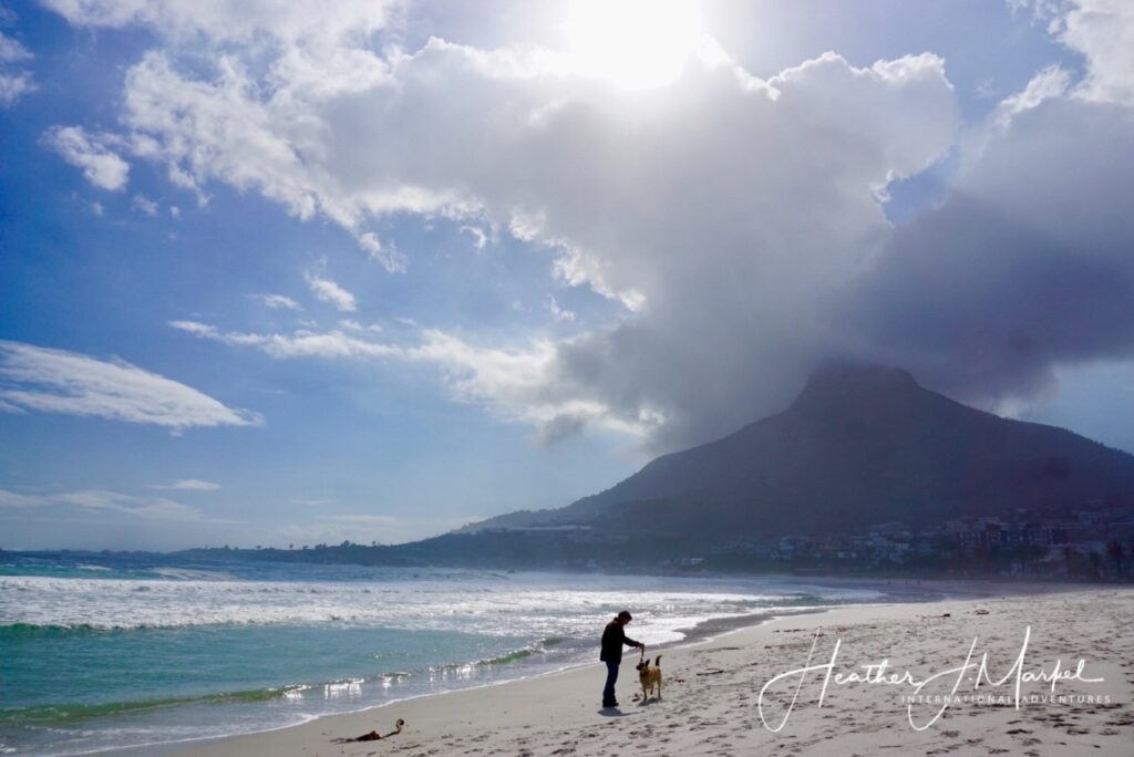 Camps Bay on the coast of South Africa.