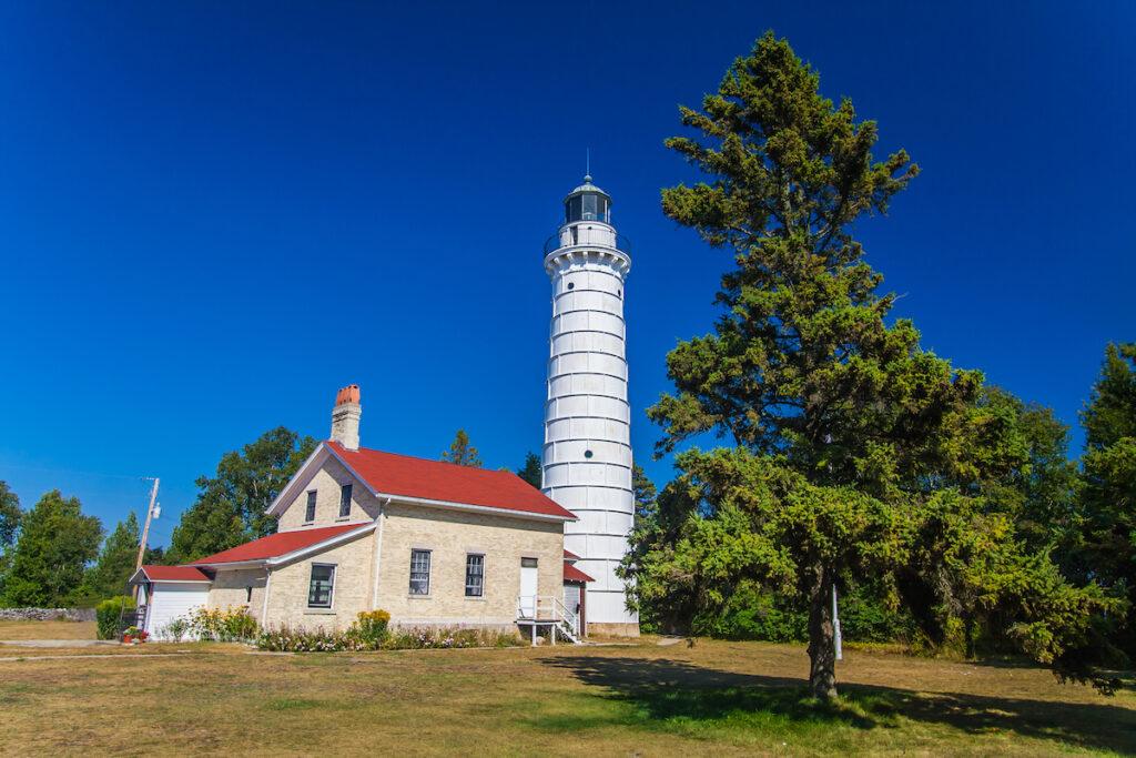 Cana Island Light Station in Baileys Harbor, Wisconsin.