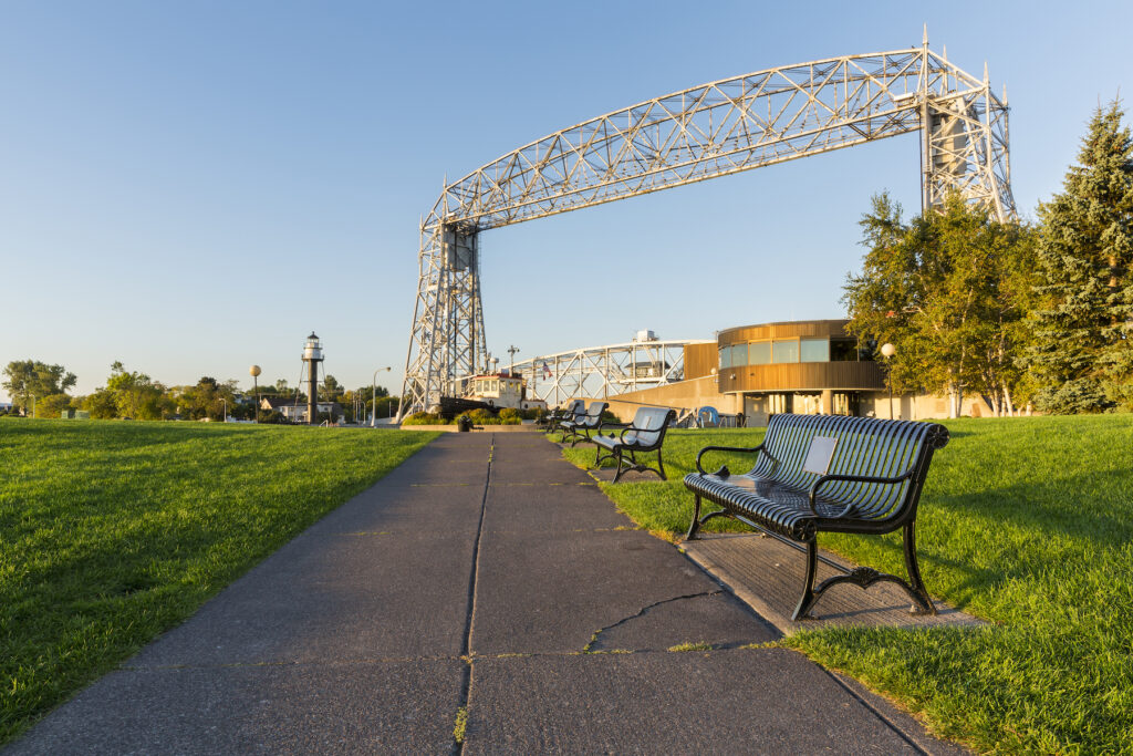 Canal Park in Duluth, Minnesota.