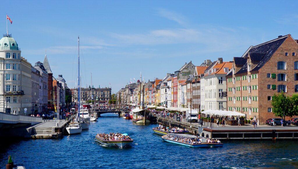 Canal tours through Copenhagen.