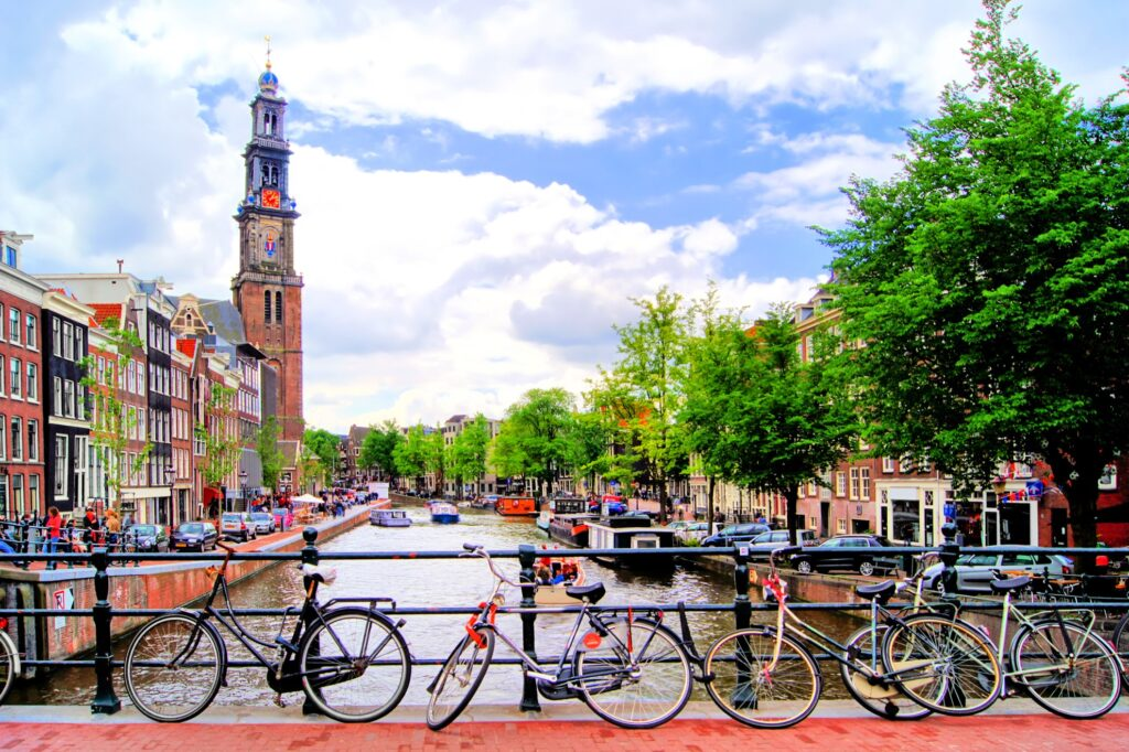 Canals in Amsterdam, Netherlands.