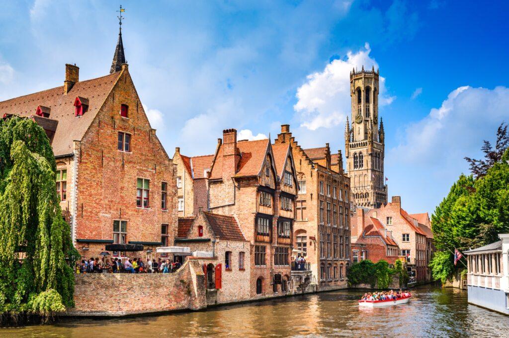 Canals in Bruges, Belgium.