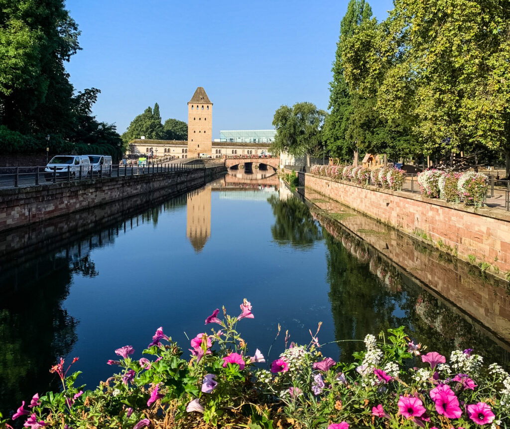 Canals in Strasbourg's Petite France.
