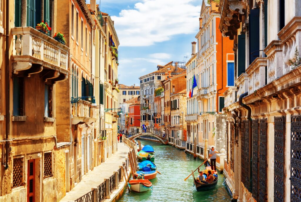 Canals in Venice, Italy.