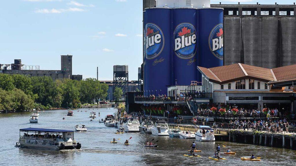 Canalside in Buffalo, New York.