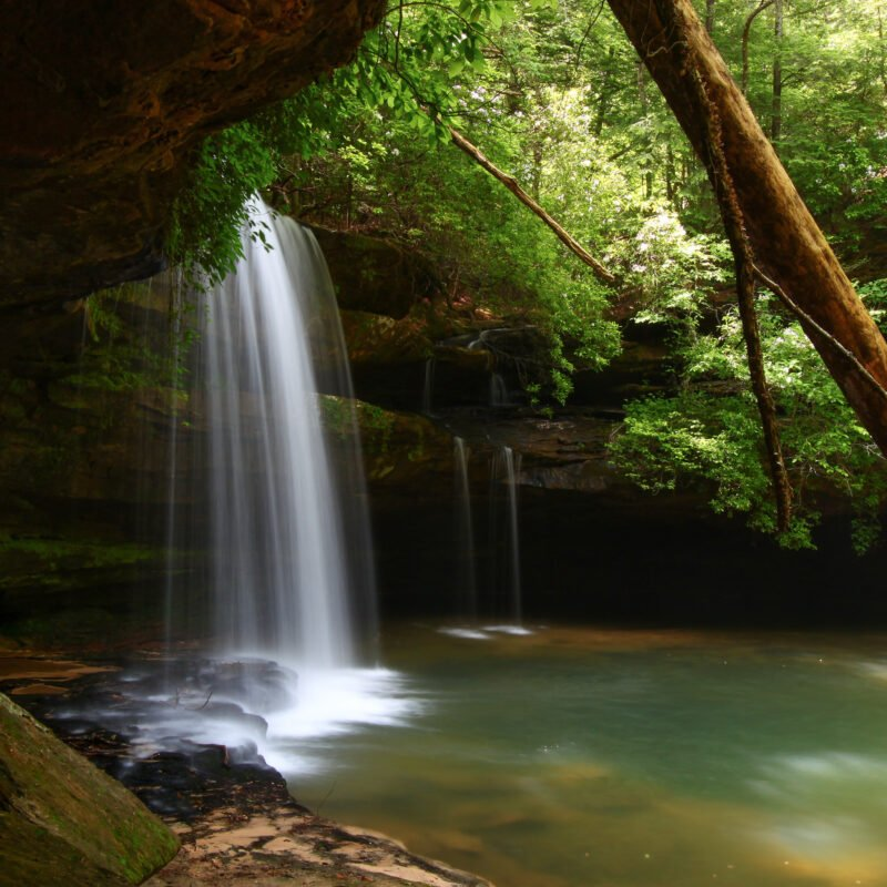 Caney Creek Falls in the Bankhead National Forest.