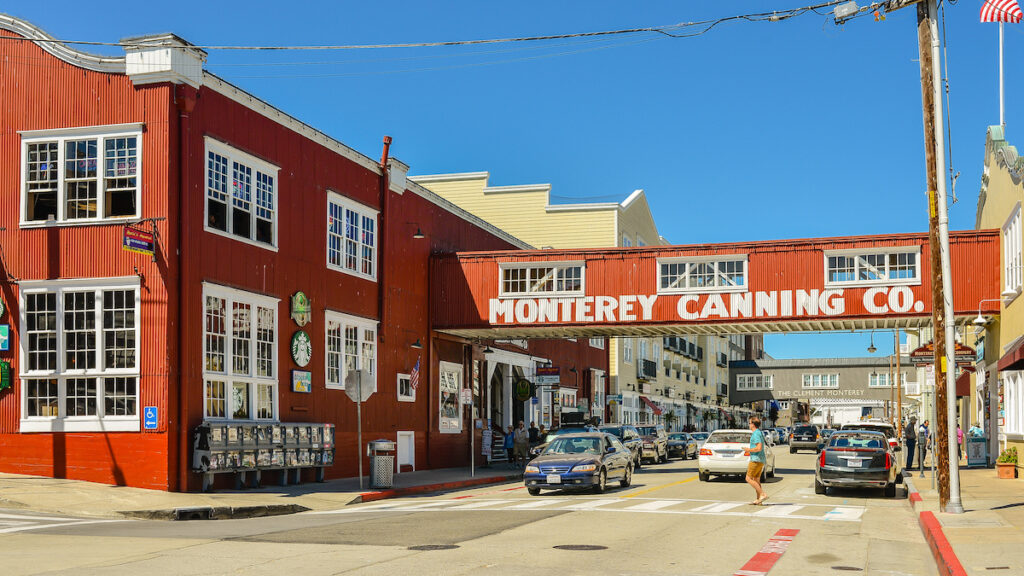 Cannery Row in Monterey, California.