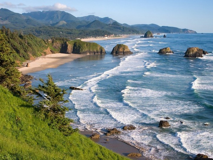 Cannon Beach views from Ecola State Park in Oregon.