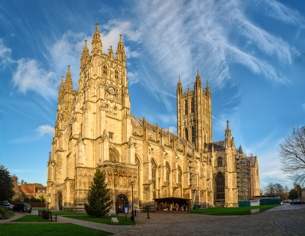 Canterbury Cathedral in the UK.