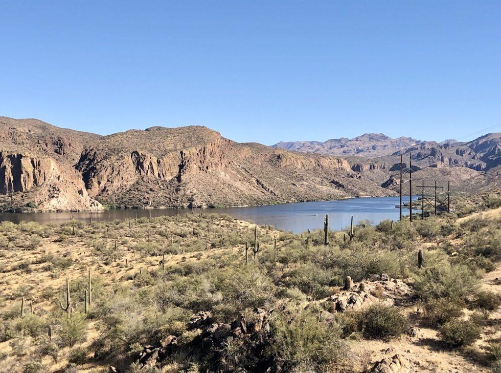 Canyon Lake along the Apache Trail in Arizona.